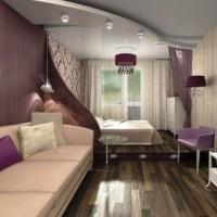 зонирование комнаты на спальню и гостиную фото 20