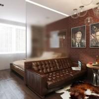 зонирование комнаты на спальню и гостиную фото 25