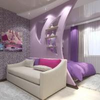 зонирование комнаты на спальню и гостиную фото 26
