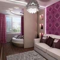 зонирование комнаты на спальню и гостиную фото 35