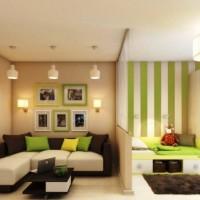 зонирование комнаты на спальню и гостиную фото 38