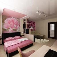 зонирование комнаты на спальню и гостиную фото 50