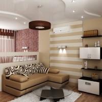 зонирование комнаты на спальню и гостиную фото 51