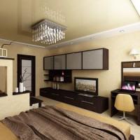 зонирование комнаты на спальню и гостиную фото 53