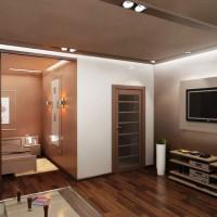 зонирование комнаты на спальню и гостиную фото 65