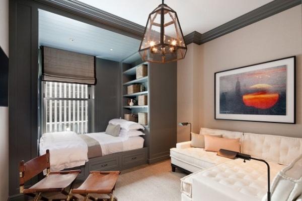 зонирование комнаты на спальню и гостиную фото 8