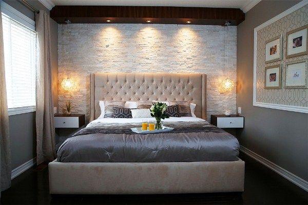 Интерьер небольшой спальни в современном стиле фото