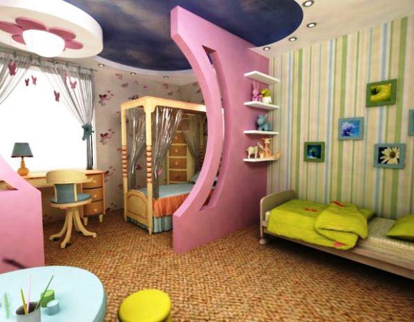 Зонирование детской комнаты: способы, лучшие методики, фото с идеями разделения на зоны