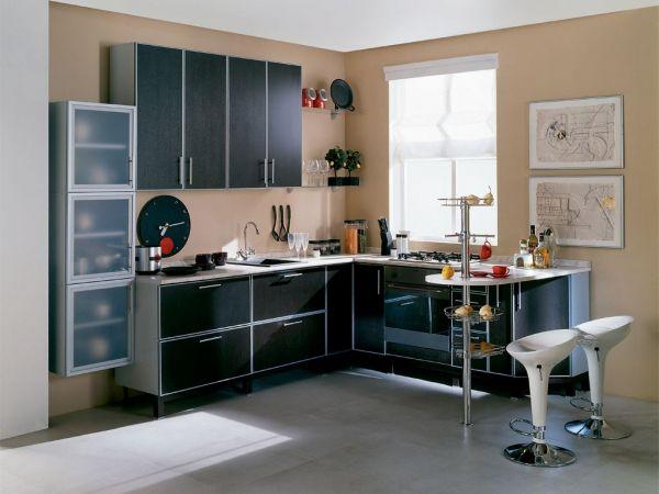 угловая кухня с барной стойкой фото 11