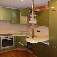 угловая кухня с барной стойкой фото 16