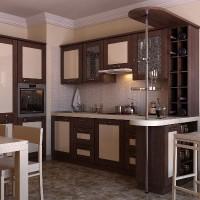угловая кухня с барной стойкой фото 19
