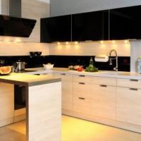 угловая кухня с барной стойкой фото 23