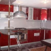 угловая кухня с барной стойкой фото 25