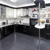 угловая кухня с барной стойкой фото 26