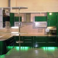угловая кухня с барной стойкой фото 29