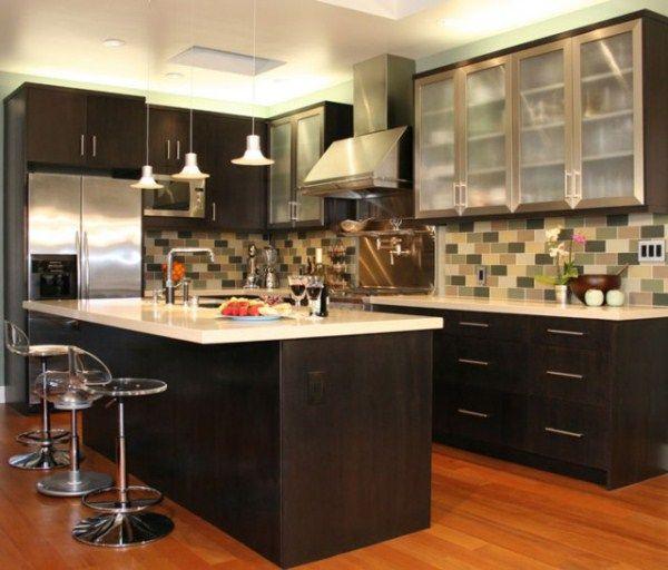угловая кухня с барной стойкой фото 3