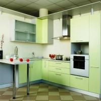 угловая кухня с барной стойкой фото 37