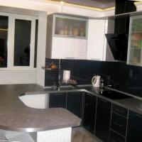 угловая кухня с барной стойкой фото 40