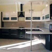 угловая кухня с барной стойкой фото 44