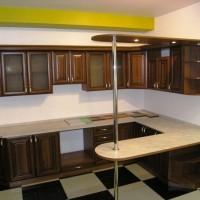 угловая кухня с барной стойкой фото 50