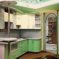 угловая кухня с барной стойкой фото 51