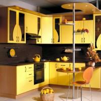 угловая кухня с барной стойкой фото 53