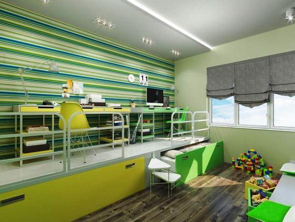 зонирование детской комнаты фото 15