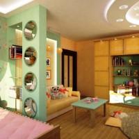 зонирование детской комнаты фото 30