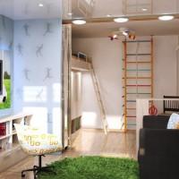зонирование детской комнаты фото 36