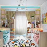 зонирование детской комнаты фото 56
