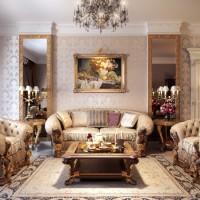 гостиная в классическом стиле фото 12