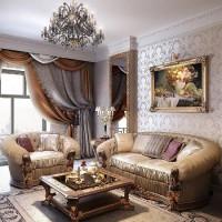 гостиная в классическом стиле фото 18