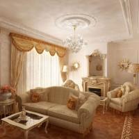гостиная в классическом стиле фото 25