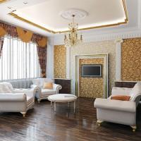 гостиная в классическом стиле фото 29