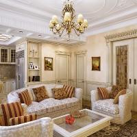 гостиная в классическом стиле фото 33