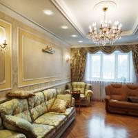 гостиная в классическом стиле фото 6