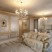 гостиная в классическом стиле фото 8
