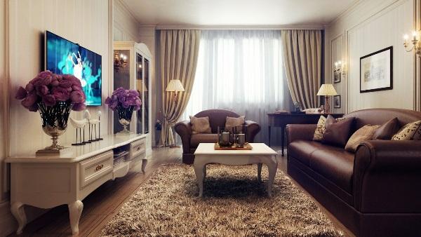 Интерьер гостиной в стиле современная классика фото