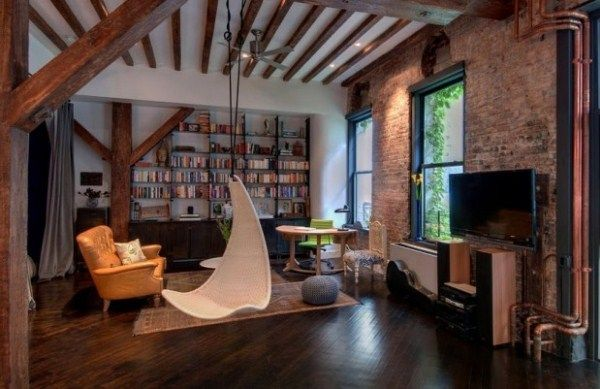 мебель в стиле лофт фото
