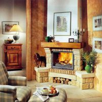 гостиная с камином фото 58