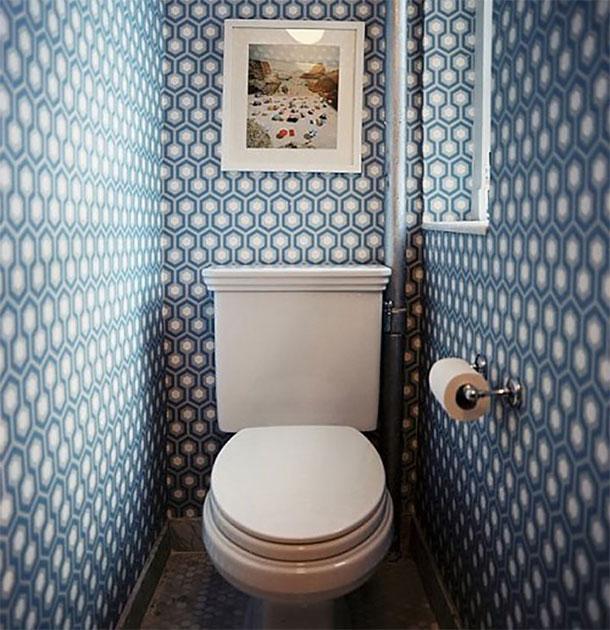 обои в туалете фото дизайн