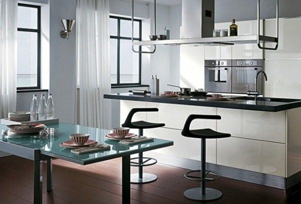 красивые шторы для кухни фото