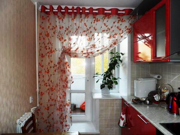 шторы на кухне реальные фото