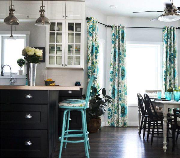 занавески для кухни фото