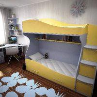 детская спальня для двоих детей фото 11