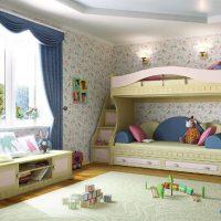 детская спальня для двоих детей фото 39