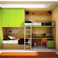 детская спальня для двоих детей фото 47