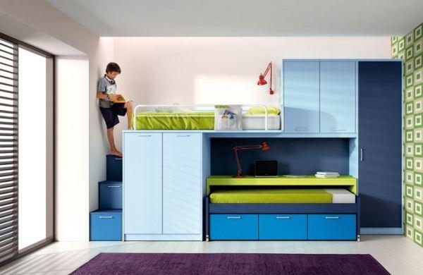 варианты детских комнат для двоих детей фото