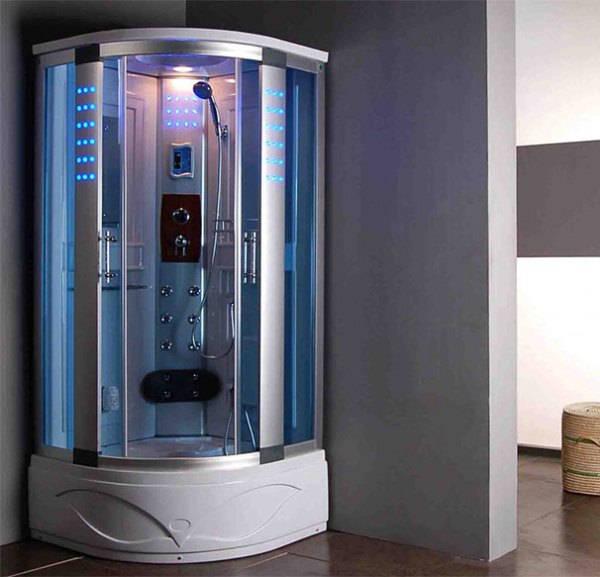 красивая ванная комната с душевой кабиной фото