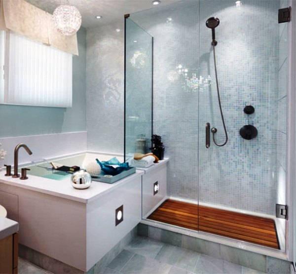 ванная комната с поддоном для душа фото 18